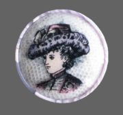 Flying lady brooches - Karen Rossi jewelry art