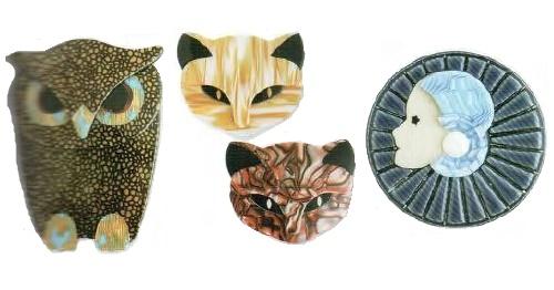 Lea Stein costume jewellery