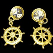 Marine steering wheel earrings