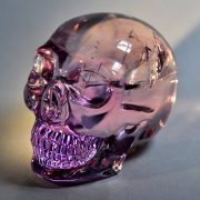 Scull of rock crystal