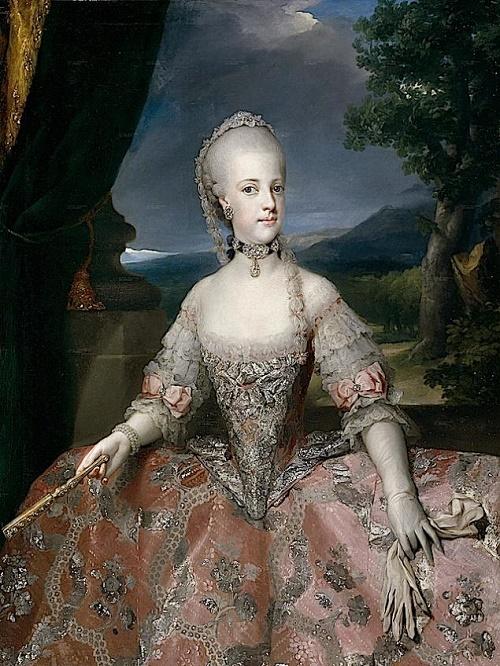 Anton Rafael Mengs. Maria Caroline of Austria, the sister of Marie Antoinette. 1768
