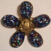 Beautiful vintage brooch in the form of a flower