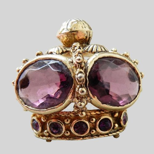 Crown brooch. 1950s