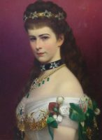 Hungarian painter Georg Martin Ignaz Raab. Portrait of Empress Elizabeth