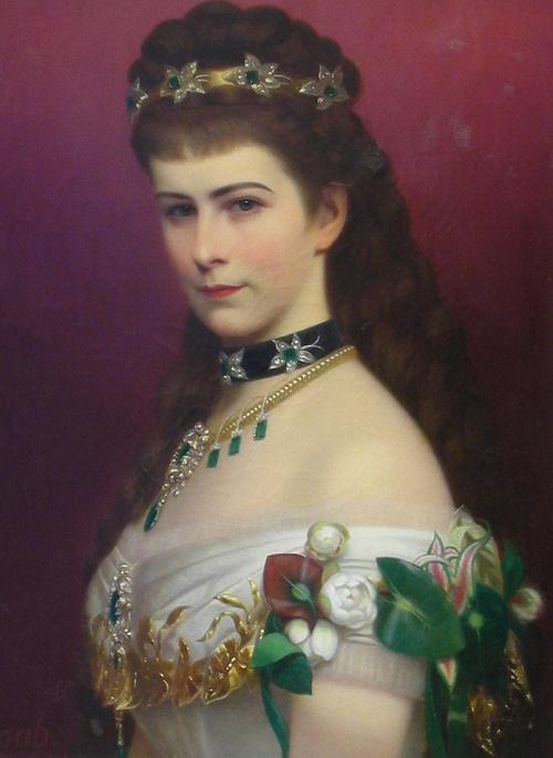 Hungarian painter Georg Martin Ignaz Raab. Portrait of Empress Elizabeth