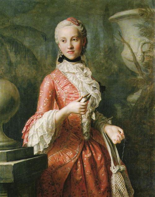 Maria Kunigunde of Saxony, Abbess in Thorn and Essen. Pietro Antonio Rotary. 1755