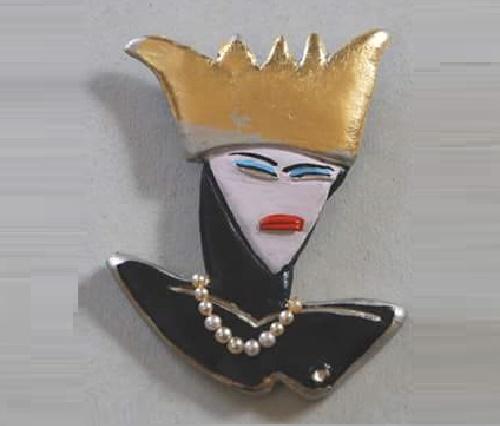 Mean Queen Brooch, BillyBoy Surreal Bijoux, 1985