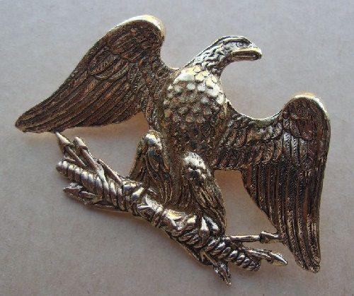 Patriotic Eagle vintage brooch