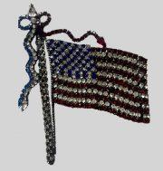 American flag brooch