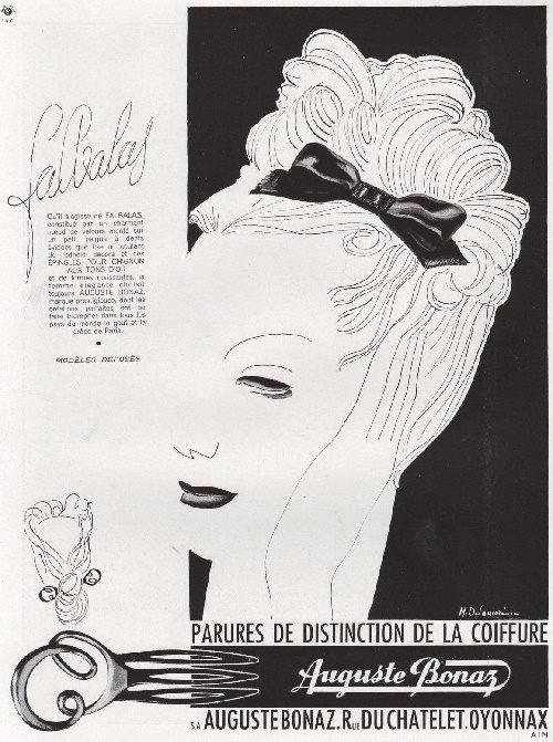 1946 Print Ad Fashion Hairdressing