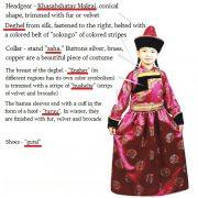 Explanation of Buryat folk costume
