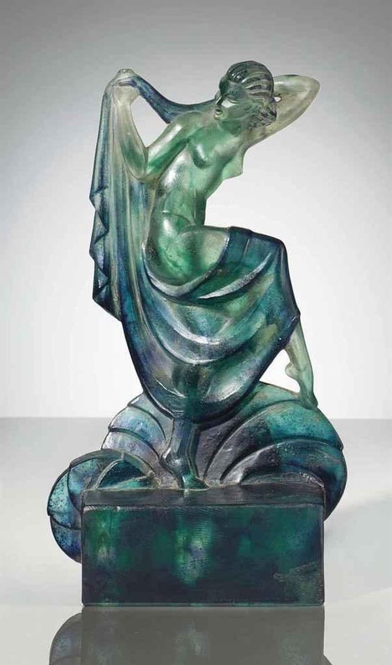 Dancer. Art Nouveau miniature sculpture