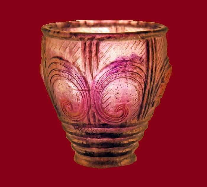 Pate de Verre (cast glass) vase