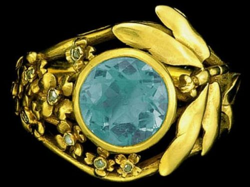 Gold Ring with insect