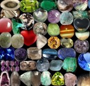 Jewellery and gem talismans bringing happiness