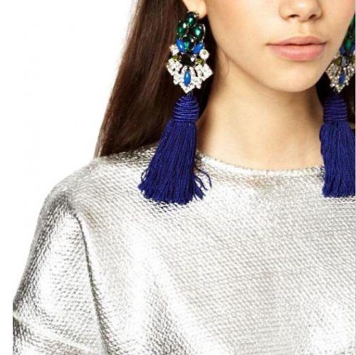New vintage tassel dangle earrings
