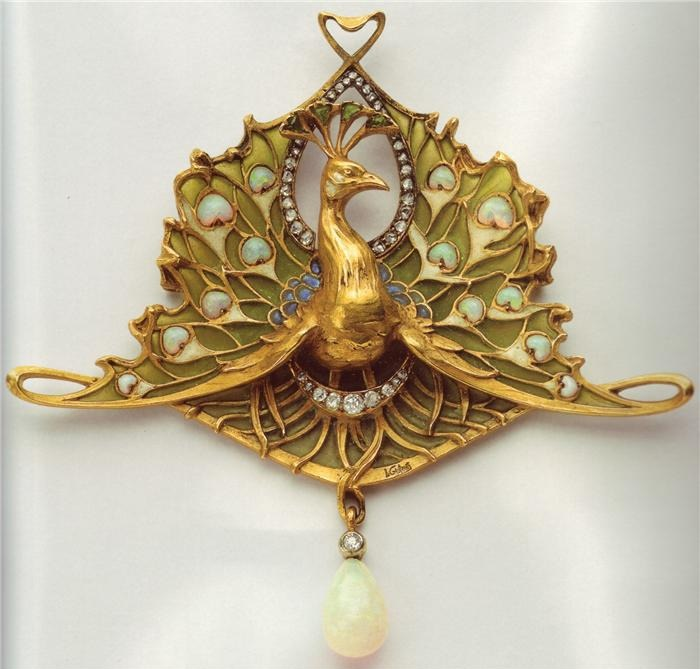 Peacock pendant-brooch