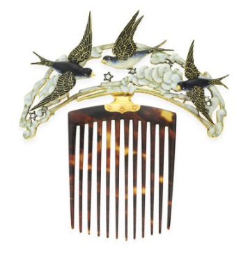 Swallows hair comb