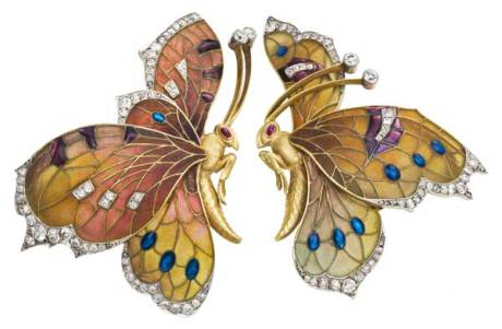 Wonderful butterfly earrings-clips