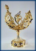 Russian field, Easter egg. Gold, diamonds, enamel