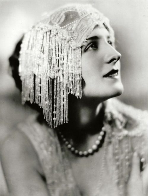 Black and white vintage photo - Norma Shearer