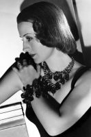 Vintage movie actress Norma Shearer loved to wear massive jewellery sets