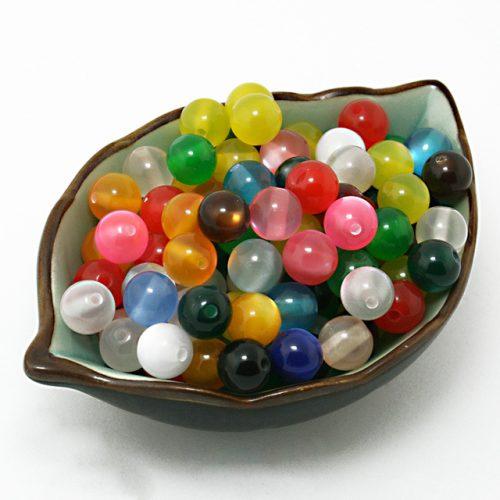 Artificial cat's eye beads