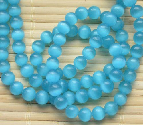 Blue beads of Cat's Eye