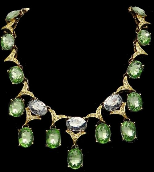 Gorgeous Multi-Faceted Swarovski Crystals necklace