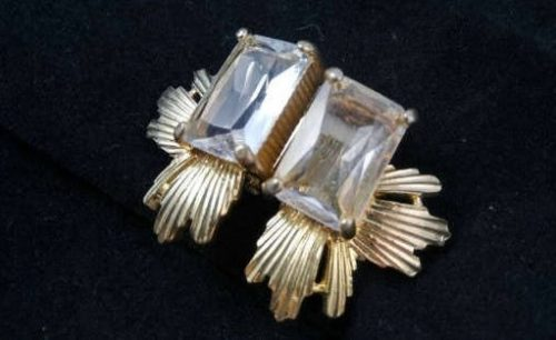 Rhinestone Earrings - Old Hollywood Glam