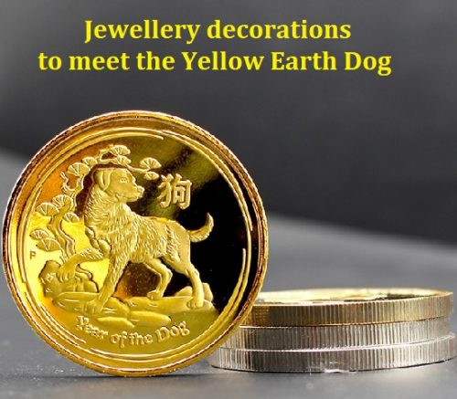 Jewellery decorations to meet the Yellow Earth Dog