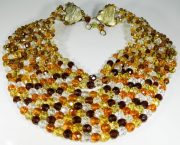 Multicolored crystal bead necklace. 1950s, approx. $980