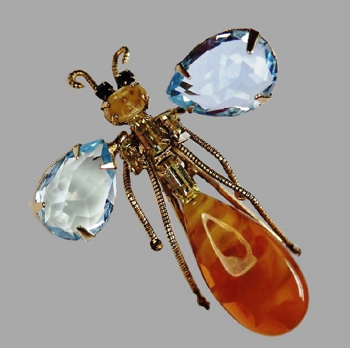 Fabulous insect brooch