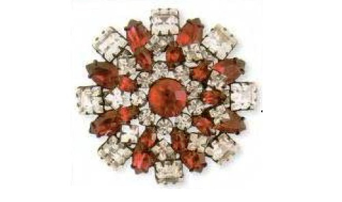 Flower brooch Cabochon made of glass, rhinestone, 1950s. $ 170