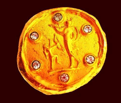 Greek mythology Gold Tone Disc Archers clips