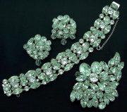 Truly diamond look, bracelet, brooch and earrings by Kramer