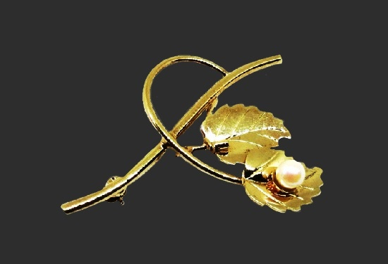 Branch with leaves brooch