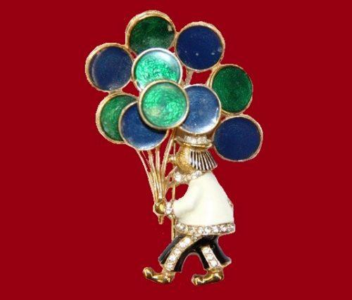 Clown brooch. 1950s