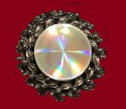 Diffraction jewels. Classic flower brooch by Jewelarama