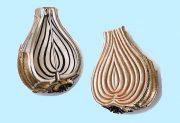 Onion. Diamonds, silver, copper, white gold