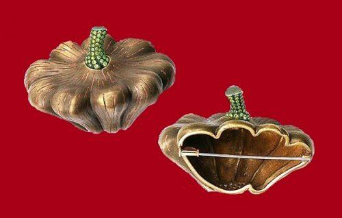 Pumpkin. Garnets, pink gold, copper