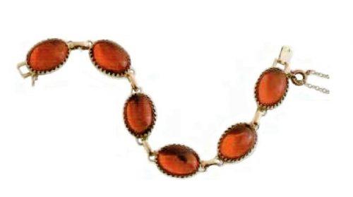Ruby cabochons of glass, gilding bracelet. Early 1960s, £ 45