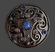 Shield brooch