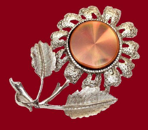 Silver flower brooch, estimated price $35