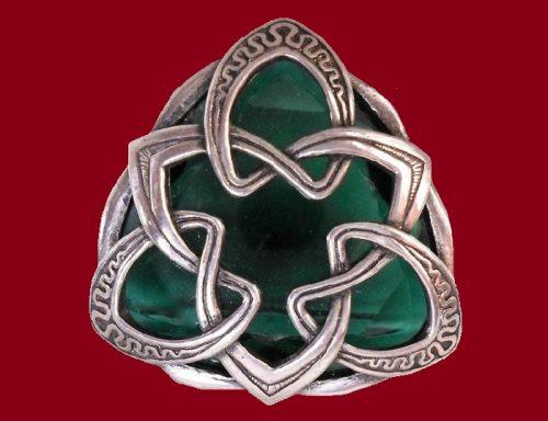 Symbolic celtic brooch