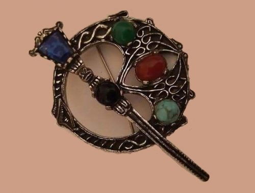 Traditional Celtic design brooch. 1960s