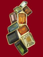 Gem set brooch, 1963