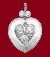 Rock crystal and diamond pendant, 1963