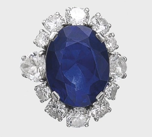 Sapphire and diamond ring, 1974