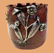 Antique hand-hummered flower cup